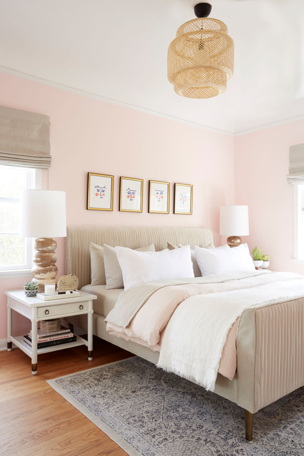 Blush Pink Bedroom - Gemini - How to Decorate according to your star sign