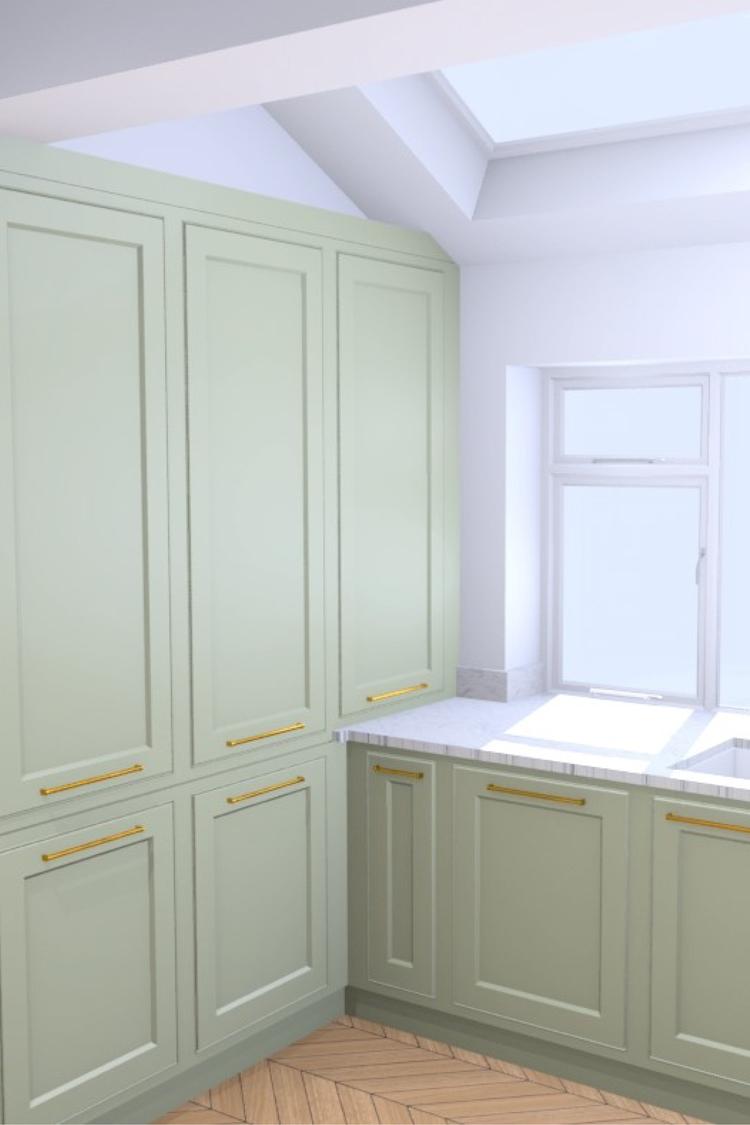 Kitchen design fridge and larders