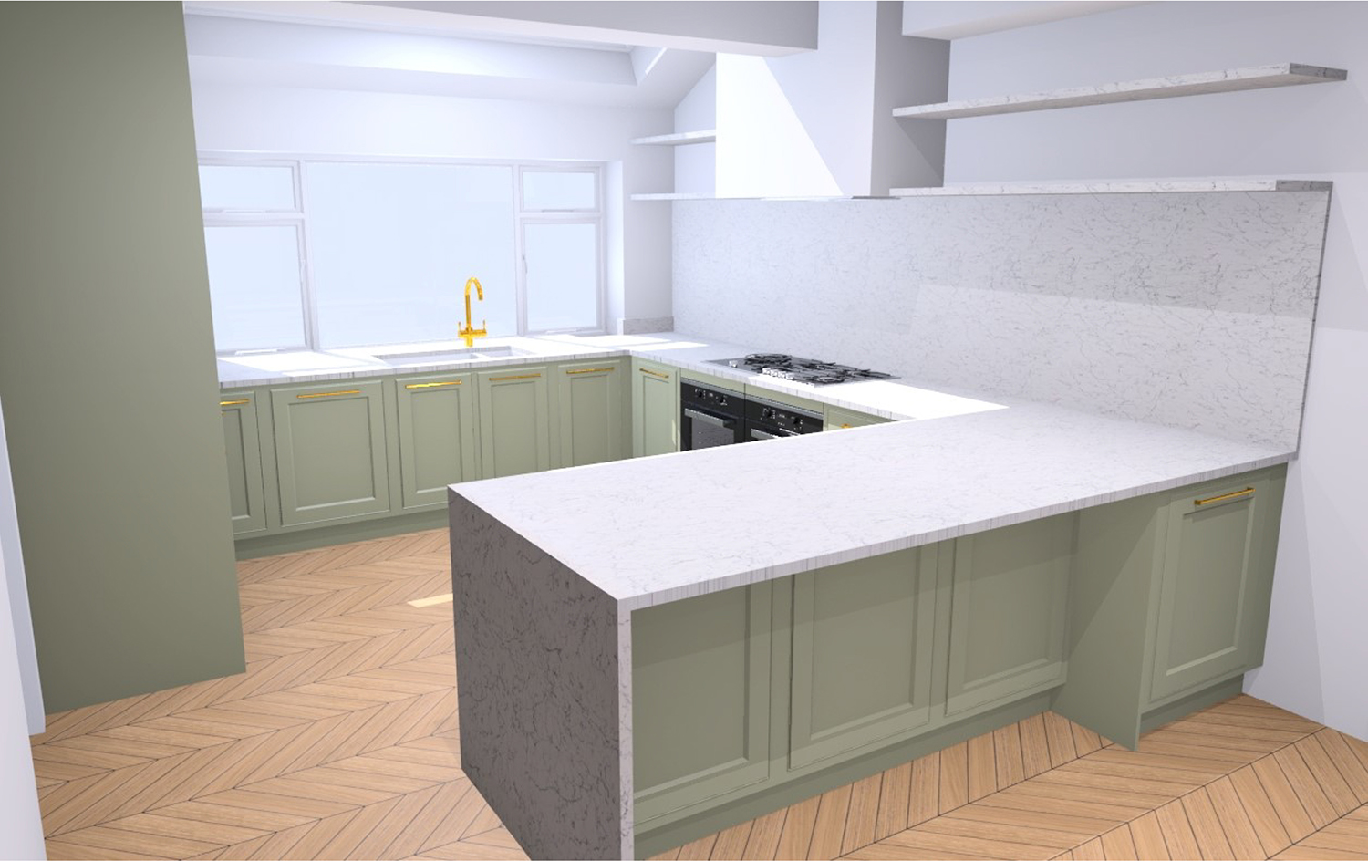 Kitchen design by John Lewis of Hungerford