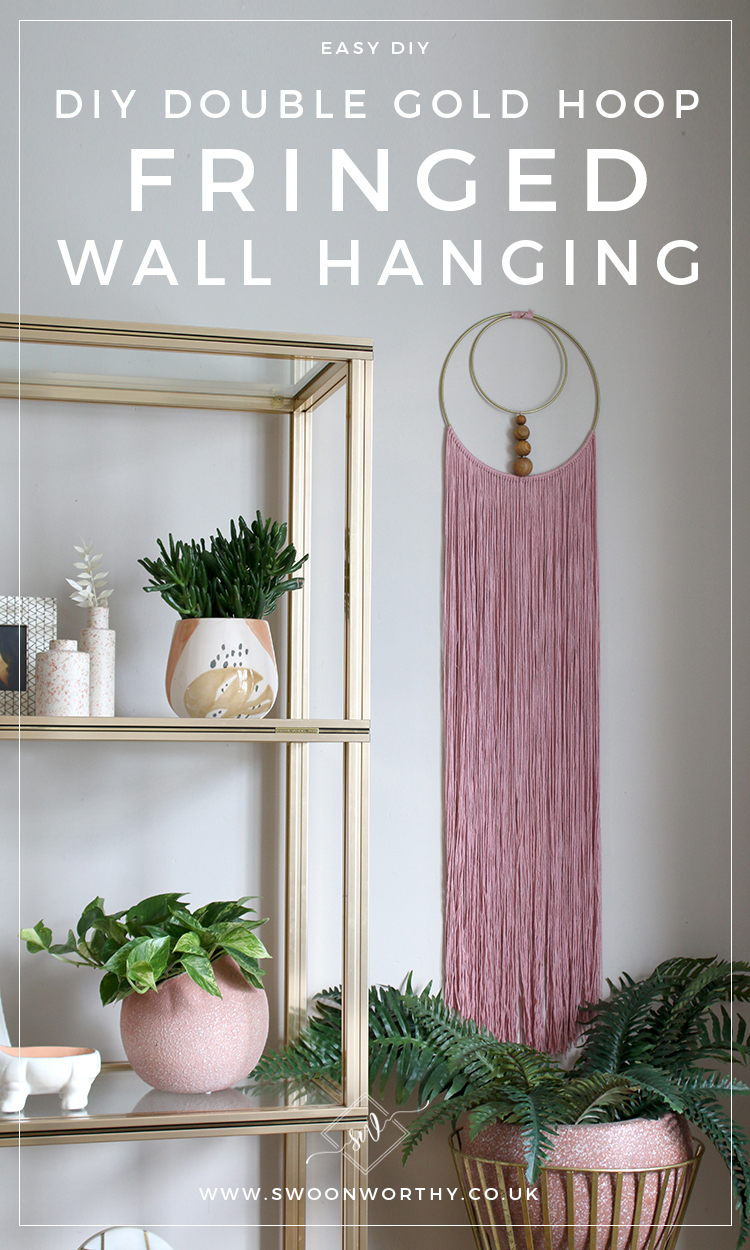 Diy Double Gold Hoop Fringed Wall Hanging Swoon Worthy