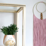 DIY Double Gold Hoop Fringed Wall Hanging