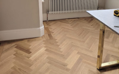 DIY: Laying Engineered Oak Parquet Flooring