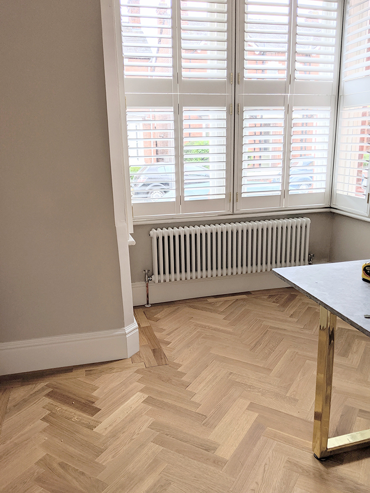 DIY Parquet Flooring with border
