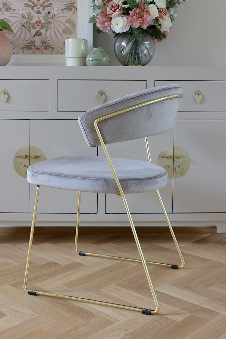 Connubia by Calligaris New York Velvet Dining Chair from John Lewis
