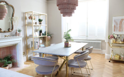 Renovation Complete: The Reveal of Our New Taupe and Pink Dining Room