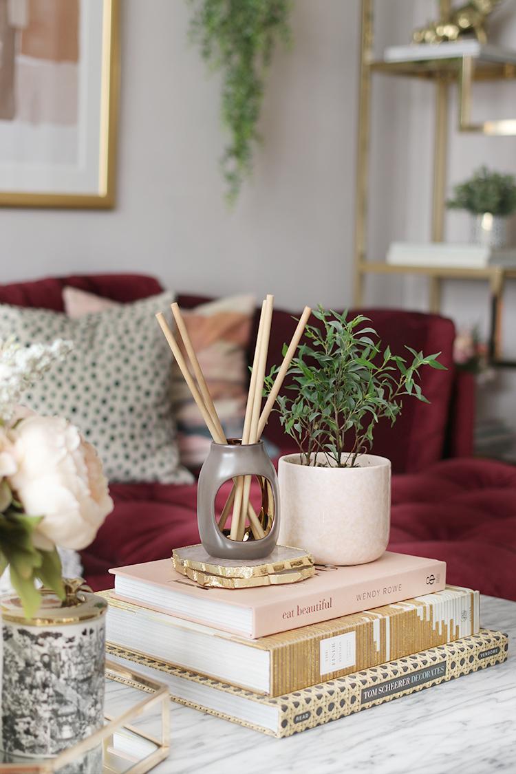 Autumn colour palette living room