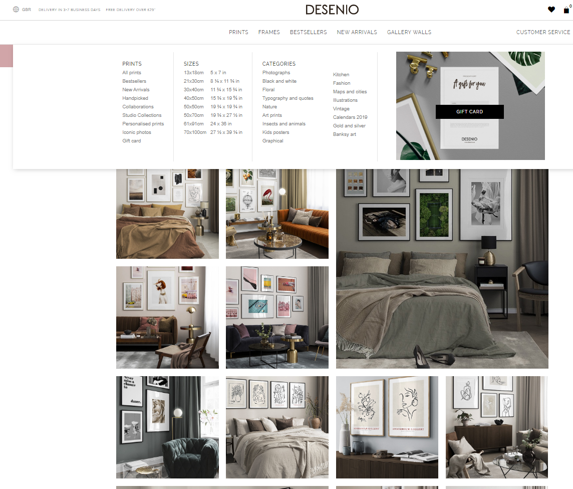 Filtering Your Results to Create the Perfect Gallery Wall