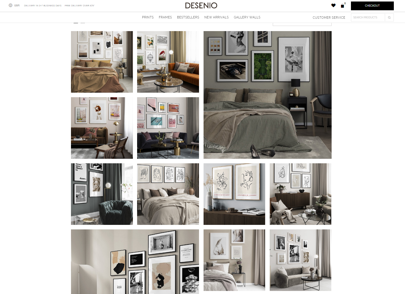 Gallery Wall Inspiration Desenio