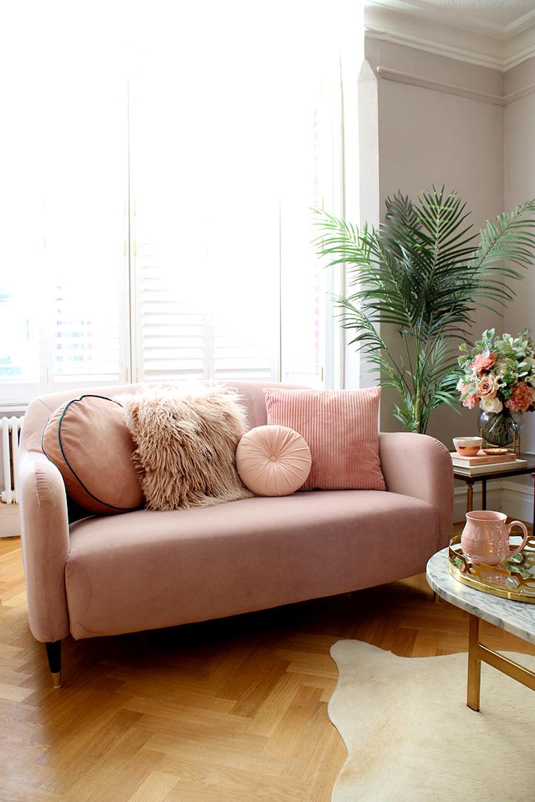 Calming Monochrome - Small Sofa Style in all One Colour