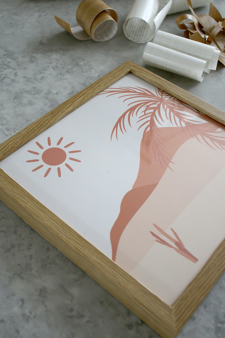 DIY Wood Frame complete with print