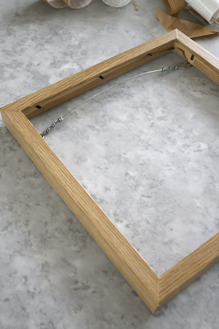 DIY Wood Frame complete