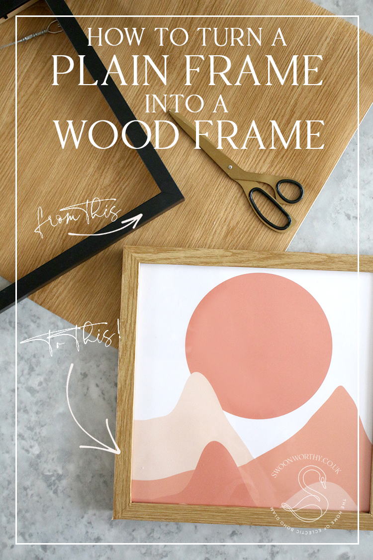 How to Turn a Plain Frame into a Wood Frame