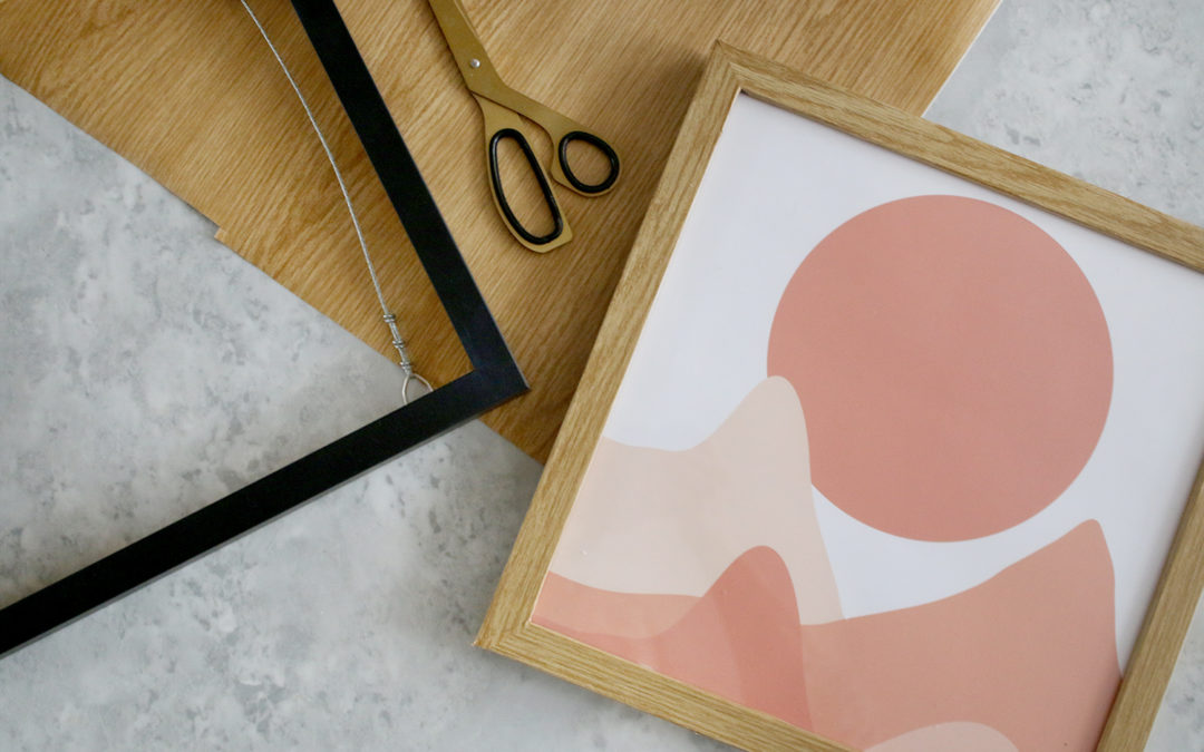 "DIY: How to Upcycle a Plain Picture Frame into a ""Wood"" Frame"