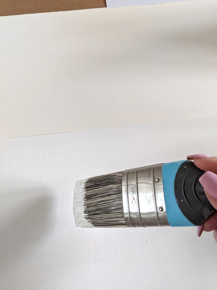 painting card the same colour as skirting board