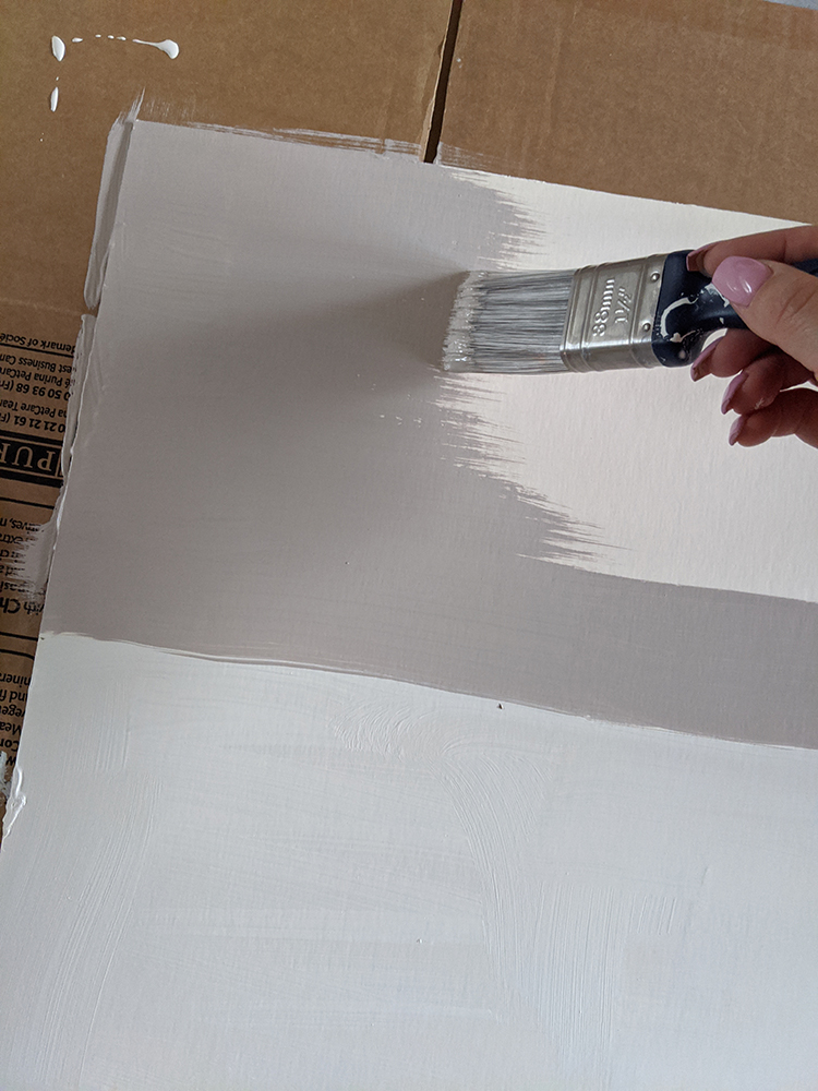 painting the card to match the wall colour