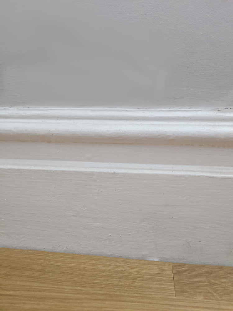 skirting board in Victorian home