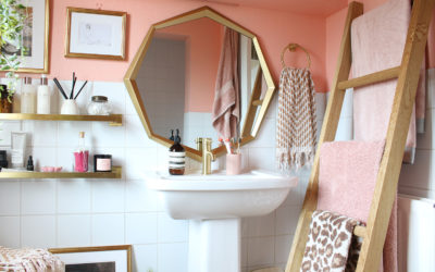 The Reveal of our Peach and Gold Bathroom Refresh (Phase 2)