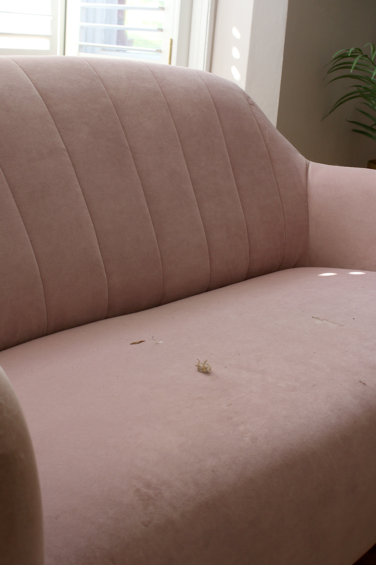 Sofa before - dirty