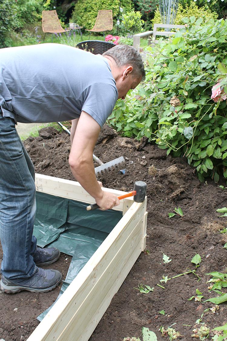 DIY Raised Bed Planter Step 10a