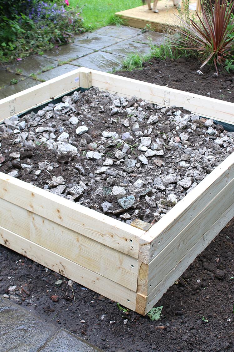 DIY Raised Bed Planter Step 11a