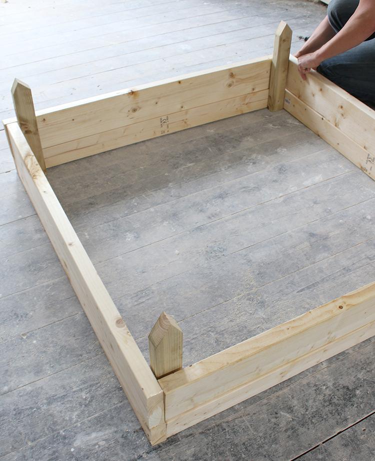 DIY Raised Bed Planter Step 6
