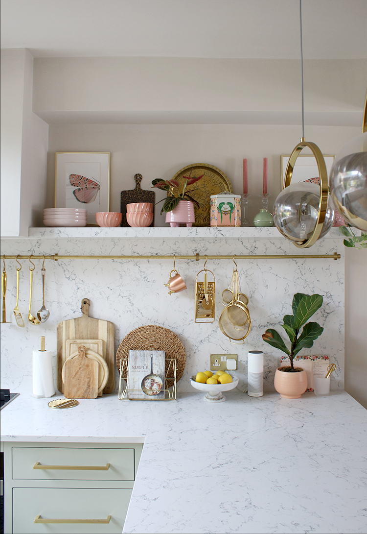 kitchen shelf in marble styling tips
