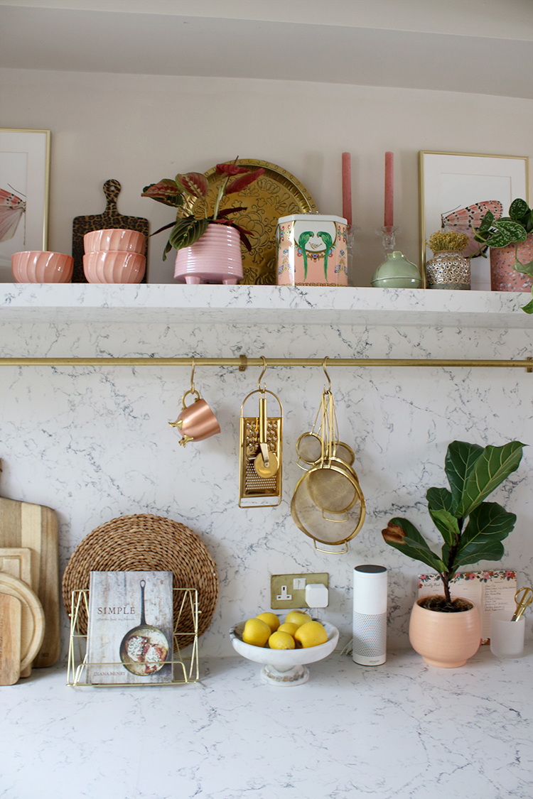items on kitchen shelving tips for styling