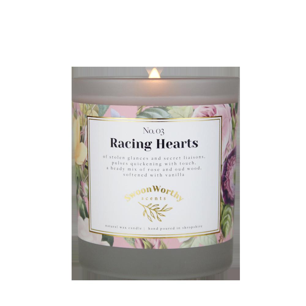 No 3 Racing Hearts Lit Candle KH VB2 Jul 21