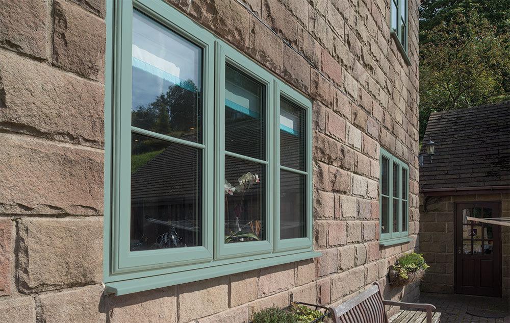 Eurocell Casement Windows in Chartwell Green