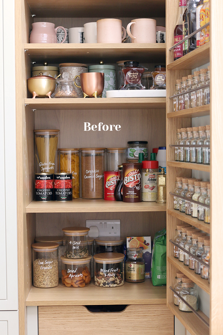 Inside of pantry before organisation