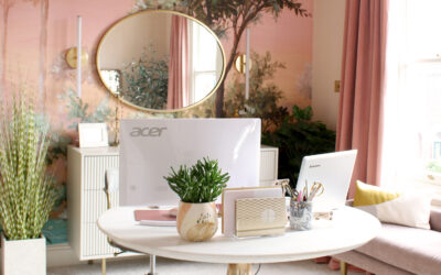 The Reveal of My Glam Peach Office & Dressing Room!