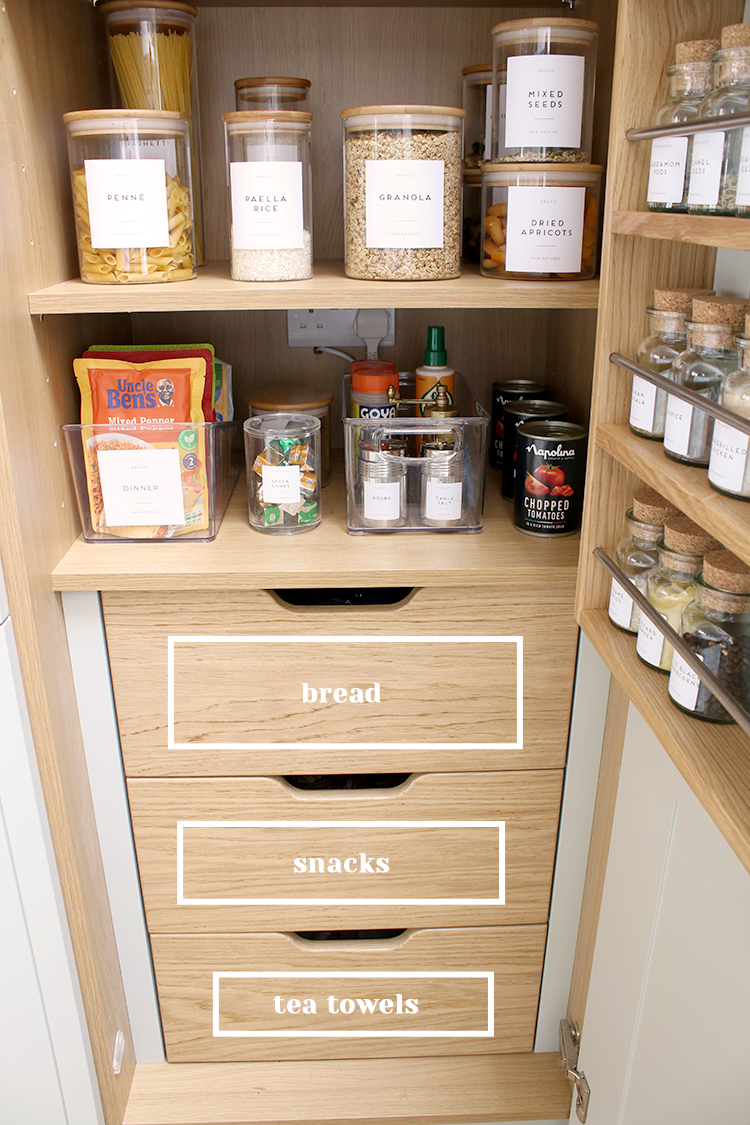 pantry drawer organising