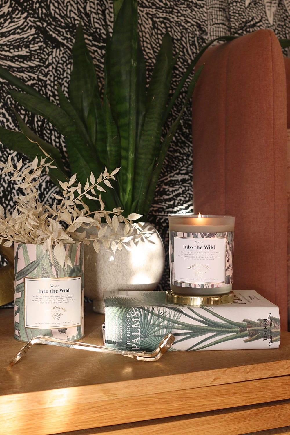 Swoon Worthy Scents Into the Wild masculine woody scented candle