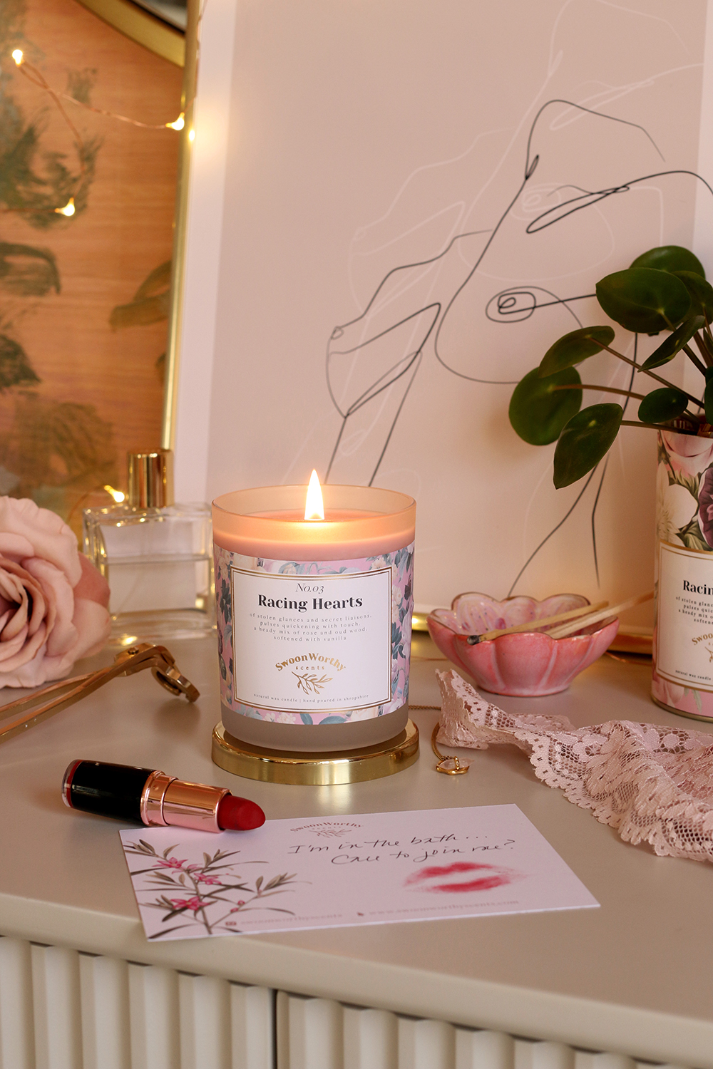 Swoon Worthy Scents Racing Heart scented luxury candle