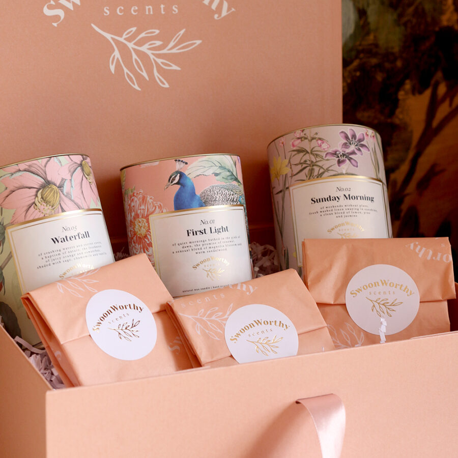 Gift Box 3 Candle Bundle Packed L105