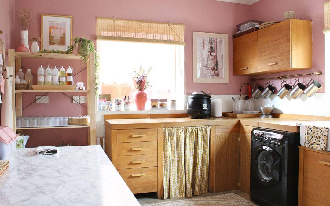 Budget Refresh: Old Kitchen to Updated Utility and Candle Studio