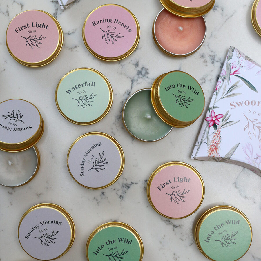 Swoon Worthy Scents tealight samples